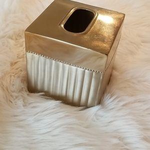 NWT Croscill gold tissue holder